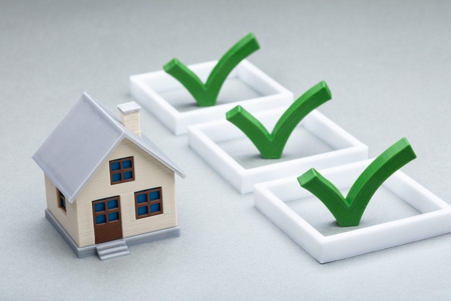Modellhaus mit 3D Checkliste