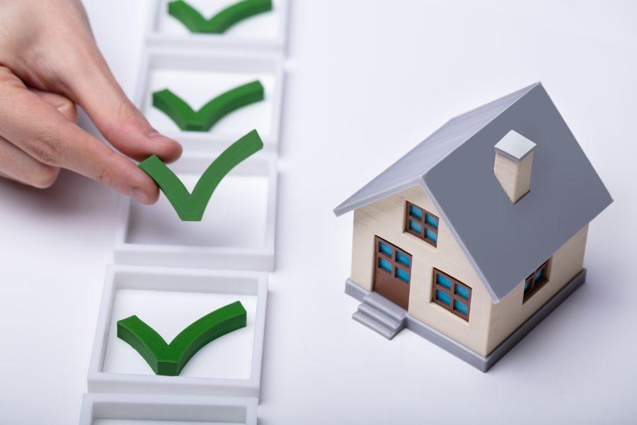 Modellhaus Checkliste Haken