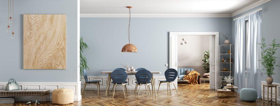 dekoriertes Wohnzimmer