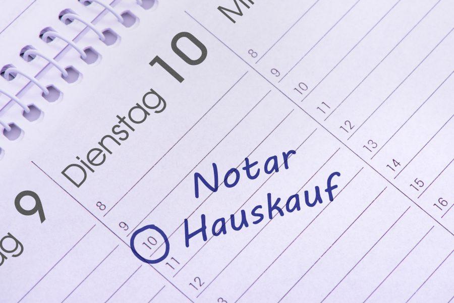 Kalendereintrag Notartermin