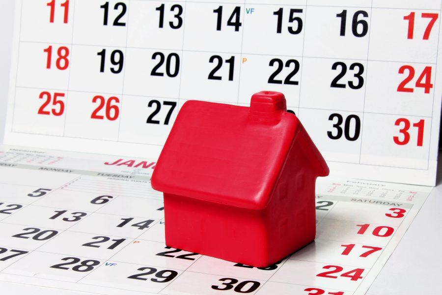 Modellhaus auf Kalender